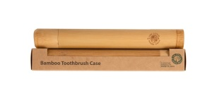 Eco-Friendly Bamboo Toothbrush Case, Strong Bamboo Protective Case Ideal for Travelling
