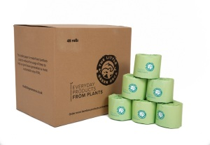 Eco-Friendly Bamboo Extra Long, Soft Toilet Paper - 24 or 48 Rolls per Box from The Little Green Orca