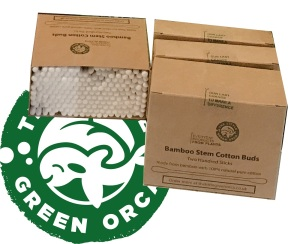 Eco-Friendly Twin Head Bamboo Cotton Buds 4 Box Bundle - 100 or 200 Sticks per Box